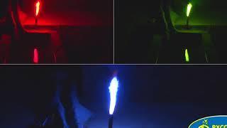 Большая батарея салютов Факел цветопламенный синий Р1811, красный Р1810, зеленый Р1812 VIDEOLENT RU