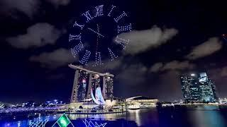 Live: Singapore new year 2021 fireworks and drone show new year celebration Singapore countdown
