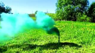 Ручной Цветной дым Зеленый МЕГАПИР МДП8