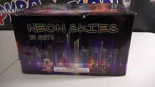 NEON SKIES - 500G CAKE  - PYROJUNKIE FIREWORKS