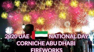 CORNICHE ABU DHABI 2020 UAE NATIONAL DAY FIREWORKS DISPLAY