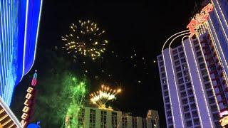 Las Vegas rings in 2021 with fireworks and crowds