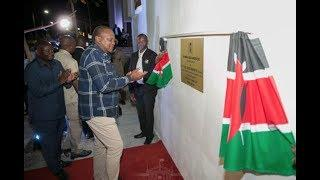 Fireworks as President Uhuru officially opens Mama Ngina park in Mombasa