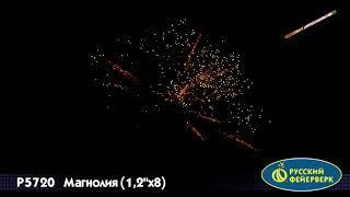 """Римские свечи Русский фейерверк, Магнолия, 1,2""""-8, 1 шт, P5720"""