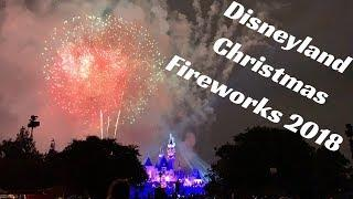 4K Disneyland Christmas Fireworks Castle View 2018