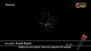 Ракеты Алый букет (арт. Р011005) — смотреть видео