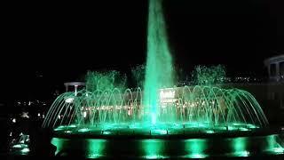 Поющий фонтан  Кисловодск  Ночь  Пиротехника  31 мая 2019 Edvin Marton – Art On