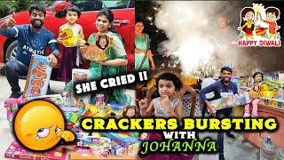 CRACKERS BURSTING with Lil Johanna & Ani WENT WRONG !! Pandian Fireworks Agencies Walajabad