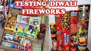 Diwali Fireworks Testing of Leftover Stash 2019 - Skyshots and more