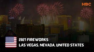 New Year's Eve 2021 fireworks show over the Las Vegas Strip