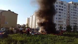 Сгорел детский батут, Ульяновск
