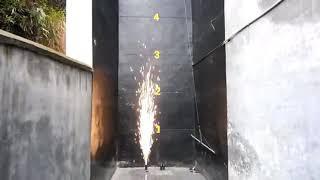 ФС001 Фонтан пиротехнический 3м 30 сек серебряного горения