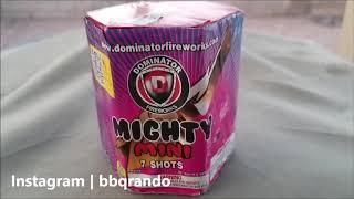 Mighty Mini Purple 7 Shot - Dominator Fireworks
