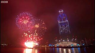 Новогодняя ночь в Лондоне.  Фейерверк Лондон 2021