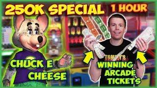 Playing Arcade Games at Chuck E Cheese for Tickets! (Fireworks at the End!)