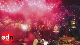 Spectacular fireworks welcome in Year of the Pig with a bang in Singapore