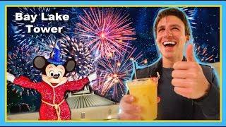 Disney's Bay Lake Tower Fireworks!! | Top Of The World Lounge