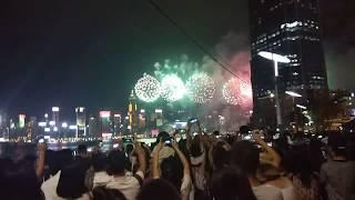National day fireworks - Hongkong 2018