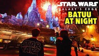 Galaxy's Edge at Night + Full Fireworks In Batuu!